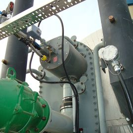 8 HC Tube-O-Therm burner on an oil treater